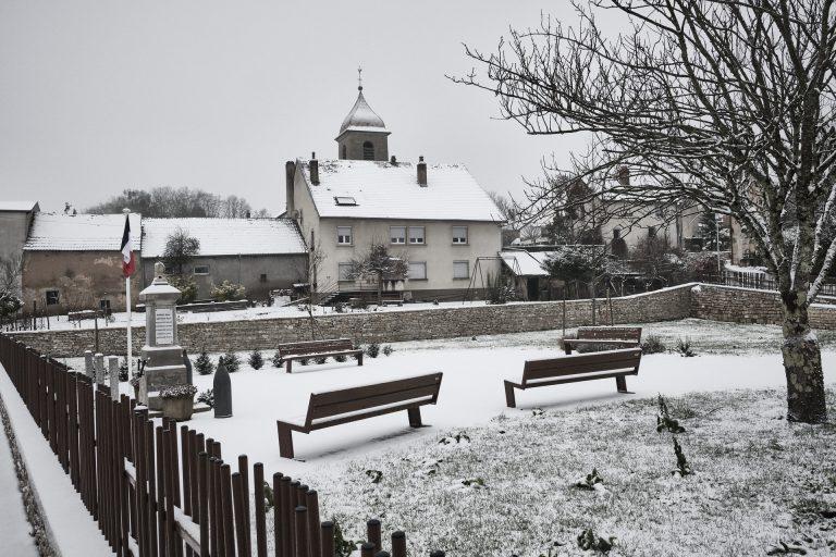 Pirey sous la neige